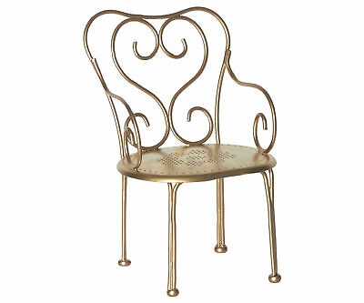 Maileg Miniature Furniture - Vintage Chair - Gold - Maileg Mouse & Bunny Range