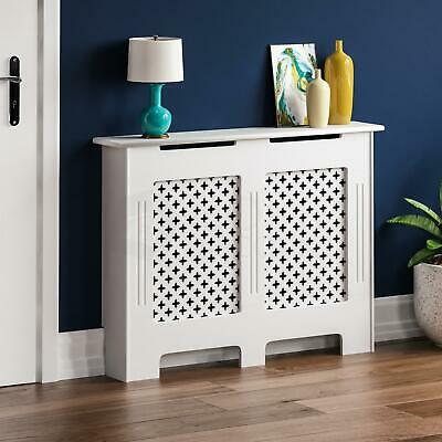 Radiator Cover Traditional White Medium MDF Classic Wood Cabinet Grill Furniture