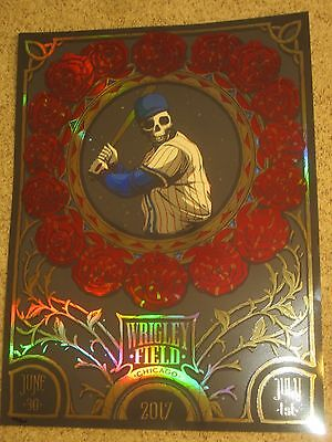 Dead and Company Print Wrigley Field Chicago Poster Official Signed & Numbered