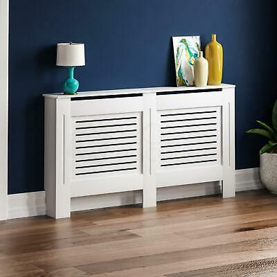Milton Radiator Cover Modern White Large Cabinet MDF Painted Wood Grill