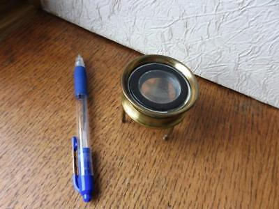 19th Century Brass Desk Top Tripod Insect Magnifying Glass
