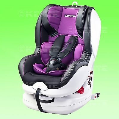 Baby Child Car seat Defender Rear and Forward Facing PURPLE 0-18 kg ISO Fix base