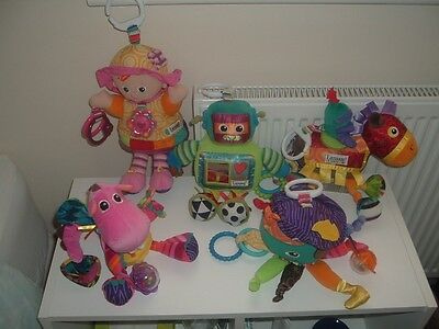 Bundle of Lamaze Soft Sensory Toys - Pram/Cot Toys - Birth +
