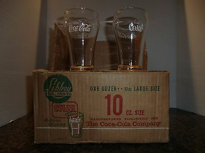 12  VINTAGE 1970  COCA COLA  BELL TOP  DRINKING  GLASSES by LIBBY
