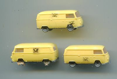 3 x DB POST VW transporter    by WIKING     N Gauge