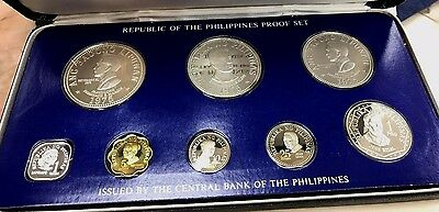 1975 REPUBLIC OF THE PHILIPPINES   Proof Set Franklin Mint