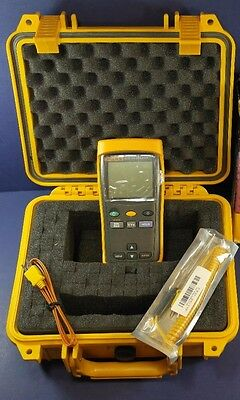 Fluke 51 II Thermocouple Thermometer, Excellent Condition! Waterproof Hard Case!