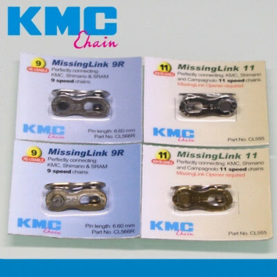 KMC Bicycle Chain Connector Missing Link 8s / 9s / 10s / 11s fits SRAM / Shimano