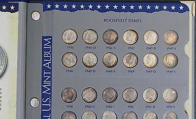 Complete 1946 - 2016 Roosevelt Dime Set Mostly Bu And Proof Issues