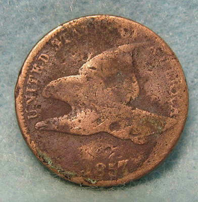 1857 Flying Eagle Penny * Circulated US Coin #1011