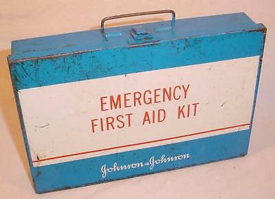 Vintage 1969 Johnson & Johnson Emergency First Aid Kit