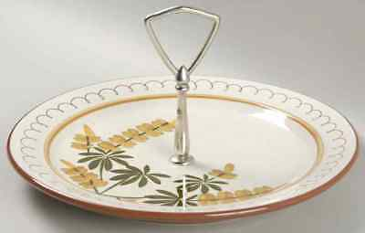 Stangl GOLDEN BLOSSOM Round Serving Plate With Handle S696941G2