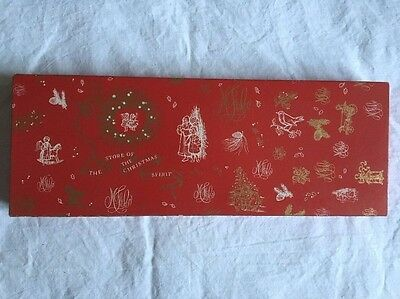 Vintage Marshall Fields Advertising Red And Gold Symbol Christmas Glove Gift Box
