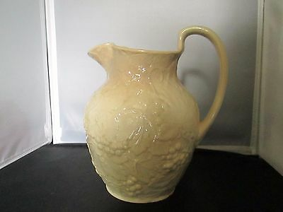 Vintage Wedgwood pottery water pitcher Grape Vine Design England Etruria