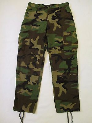 Medium Regular US Army Hot Weather Trouser Woodland Camouflage Combat Pant Camo