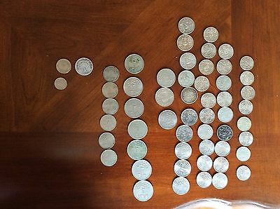 Saudi Arabian Coins: old and current (Quirsh and Halala), Bahrain Coins