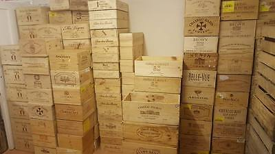 3 x ASSORTED MIXED SIZE FRENCH ITALIAN WOODEN WINE PORT CHAMPAGNE CRATE BOXES-