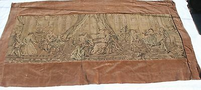 Antique Victorian Parlor Scene, Children at Play, Wall Tapetry