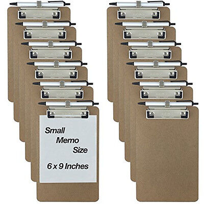 Trade Quest Pen Holder Memo Clipboards 6'' x 9'' (12 - Pack) (Pen Included)