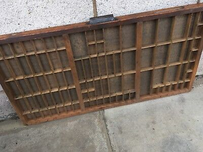 Vintage Print tray printers wooden type case drawer miniatures display a5
