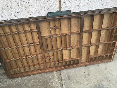 Vintage Print tray printers wooden type case drawer miniatures display a7