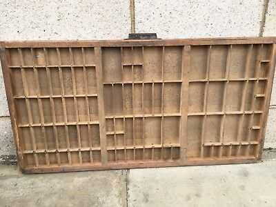 Vintage Print tray printers wooden type case drawer miniatures display a8