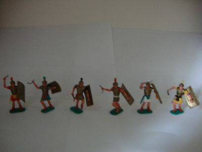 Timpo vintage Romans 1960s set of 6 with rare colours