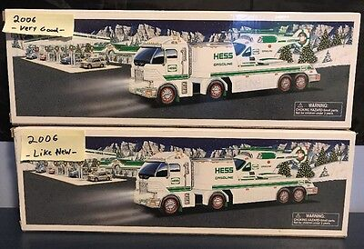 Vintage HESS 2006 TRUCK AND HELICOPTER CIB Lot Of 2!