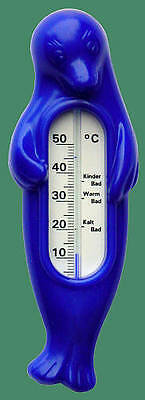 "Badethermometer ""blaue Robbe"" Babythermometer Thermometer Wasserthermometer SALE"