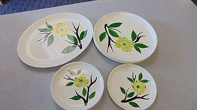Dixie Dogwood Joni Dinnerware Mixed Lot Platter Dinner & Dessert Plates 8 PCS