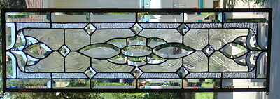 """Stained Glass window hanging 35 X 11 1/4"""""""
