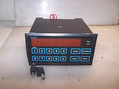 Eaton Durant Panel Mount Counter 8 Digit Totalizer Model 5881-1