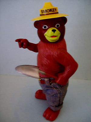 "Vintage Collectible 1970 Dakin Smokey The Bear 8""Plastic Advertising Doll EXC"