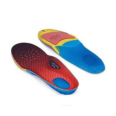 SENSFOOT Mens Arch Support Insoles Orthotics Shoes Insert Shock Absorption Blue