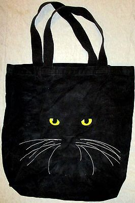 Pre Owned  WESTERN TEXTILE & MFG CO Silk Screen CAT Face Tote Bag 100% Cotton US