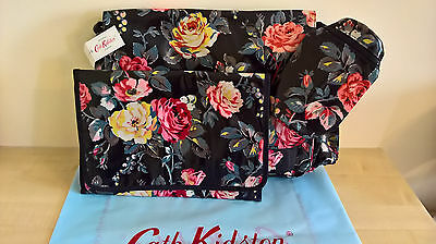 BNWT Cath Kidston Baby Changing Bag with Mat & Bottle Holder - Garden Rose