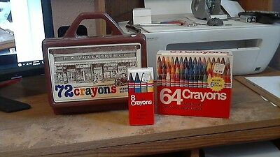 vintage woolworth co. crayons with case