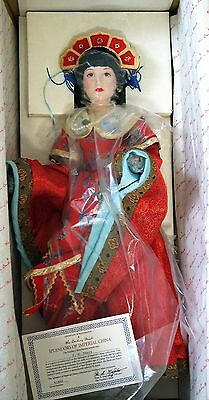 Danbury Mint Splendors of Imperial China Collection Yu-Huan Porcelain Doll USED