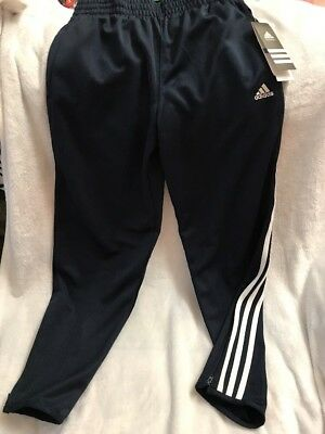 New Boys ADIDAS Climalite Navy Blue Track Field Pants Size Medium 10 12