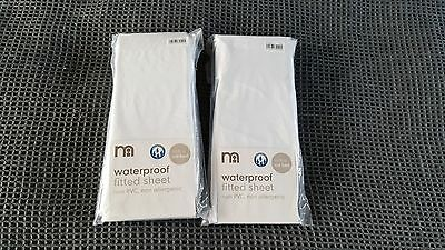 Mothercare Waterproof Fitted Sheet Cotbed Non PVC - BRAND NEW ORIGINAL PACKAGING