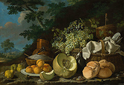 "Luis Melendez : ""The Afternoon Meal"" (c.1772) — Giclee Fine Art Print"