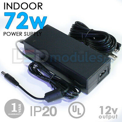 LED-Factory -12V -72W -6A -Indoor Power Supply, Adapter -DC -UL