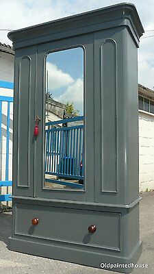 Painted Victorian Wardrobe with Key