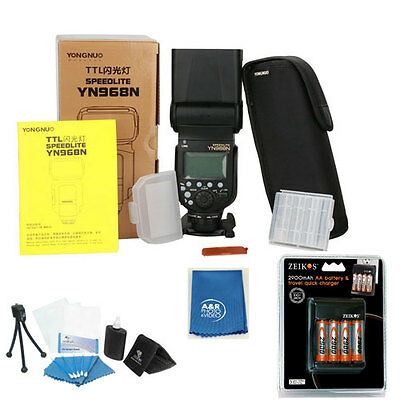YONGNUO YN968N Wireless Camera Flash Speedlite Master HSS TTL Nikon YN968 + Batt