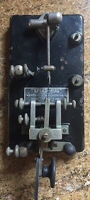 Antique Brooklyn Metal Stamping Speed Bug J-36 Telegraph Dated 1930 Rare!
