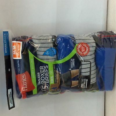 5 pack Mens Hanes 7347Z5 Tagless, Cool Dri,  Boxer Briefs