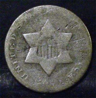 Three Cent Silver With  No Date - Id# Pp562