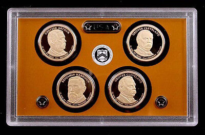 2012-S 4 pc. Presidential Dollar Proof Set Deep Cameo Gem Coins w/out Box or COA