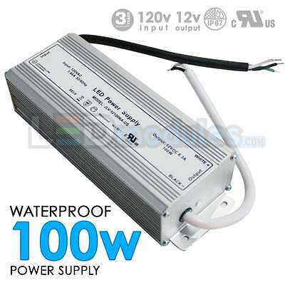 100W 12V 8.5A DC UL Waterproof-Outdoor Power Supply/Adapter LED-Factory (#1265)