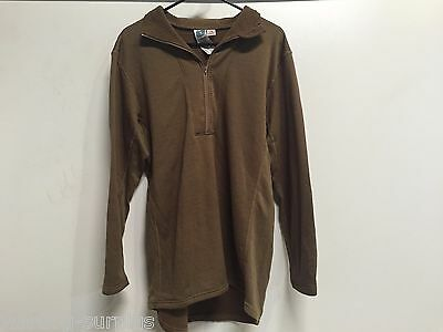 New US MILITARY USMC INSPORT POLARTEC GRID 1/4 ZIP PULL OVER COYOTE TAN BROWN